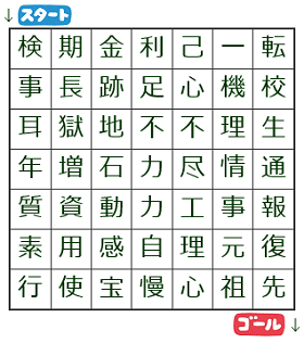 漢字しりとり迷路